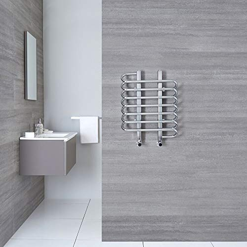 Flat Towel Radiator - Chrome - 610mm x 500mm x 96mm - 266 Watts - Select