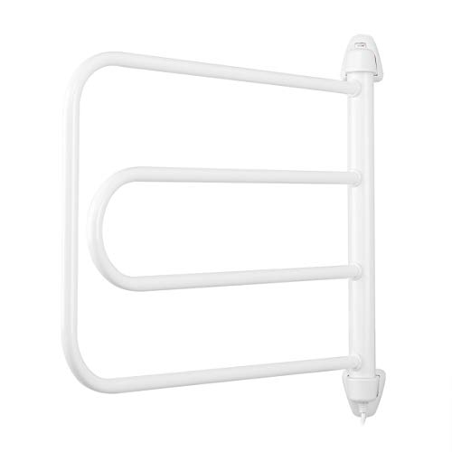 Orbegozo TH 8003 - Electric towel rack, easy installation, dries and warms towels, adjustable rotation, indicator light, 85 W, white