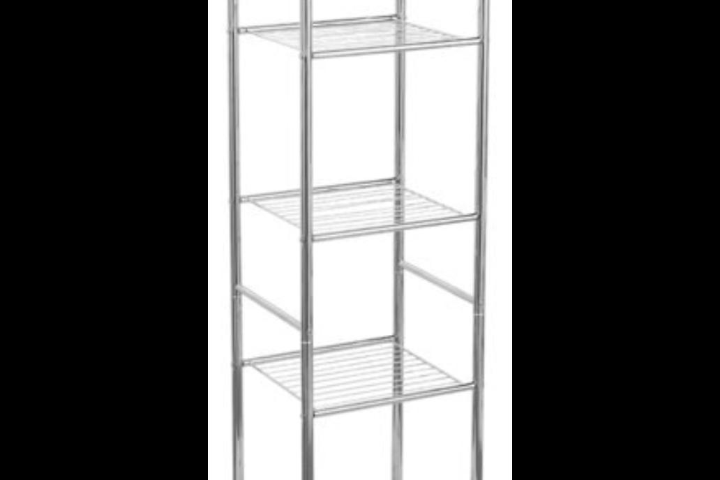 Bathroom shelf 6 shelves Practik chrome 32x28 cm