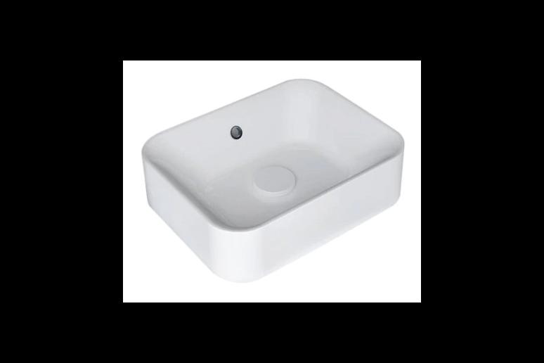 White Capsule washbasin 48x13.2x38 cm
