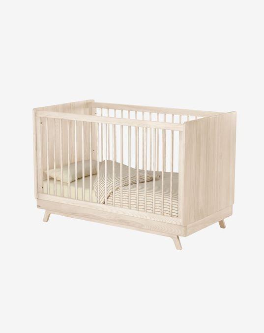Maralis convertible crib made of solid ash wood 70 x 140 cm
