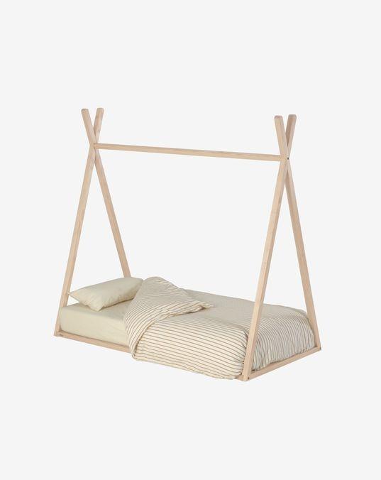 Maralis teepee bed solid ash wood 70 x 140 cm