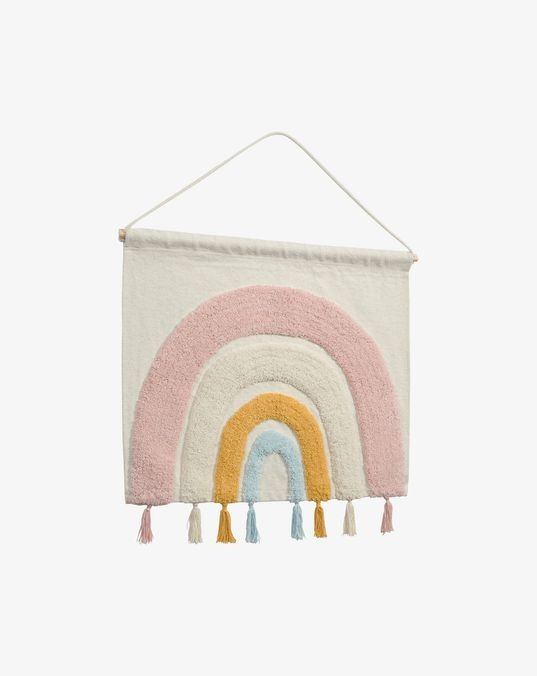 Thaide wall tapestry 100% cotton (GOTS) rainbow multicolor 60 x 52 cm