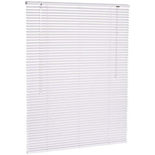 AmazonBasics - Aluminum Venetian Blind, 100 x 130 cm, White