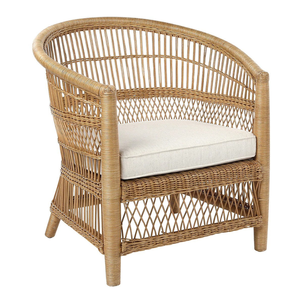 Lumpur rattan armchair from the Lumpur Collection