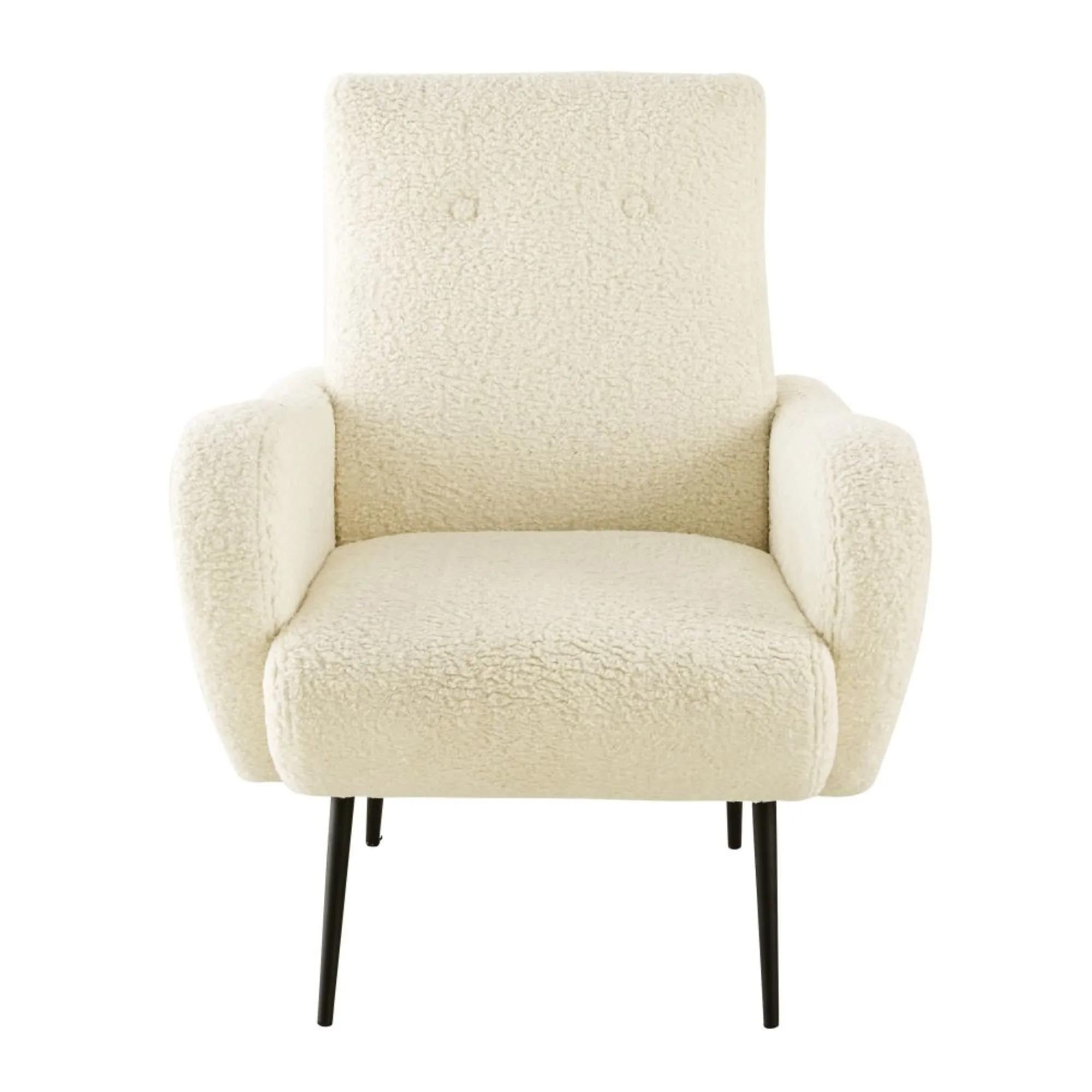 POLUX Synthetic hair armchair