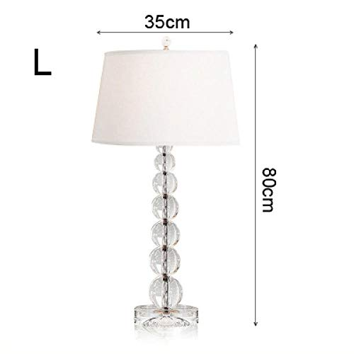 Simple and luxurious crystal table lamp, bedside bedroom, living room, large size modern creative decorative table lamp