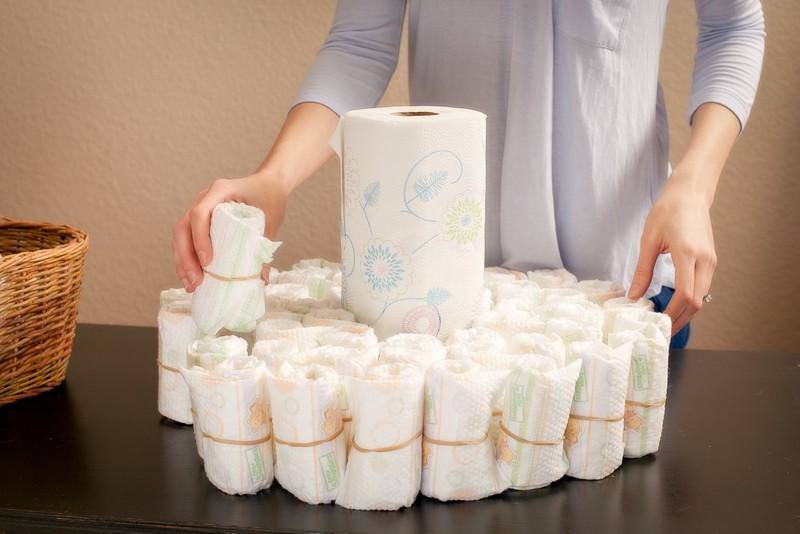 diaper cake how to make