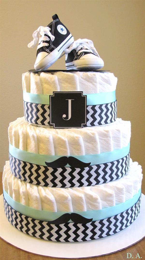 diaper cake step by step 2 floors