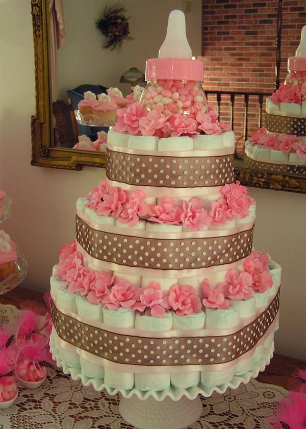 different diaper cake
