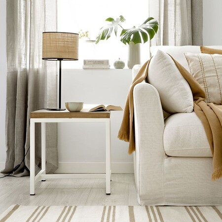Ayna Side Table White