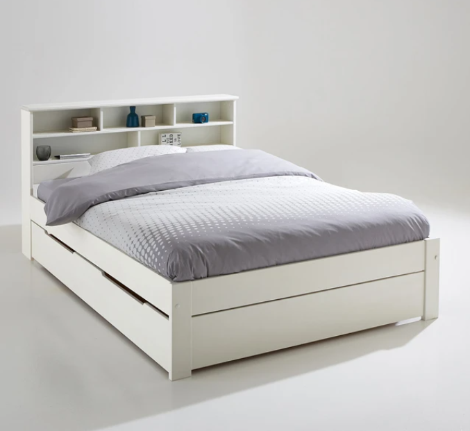 Nikkö bed, headboard and box spring set