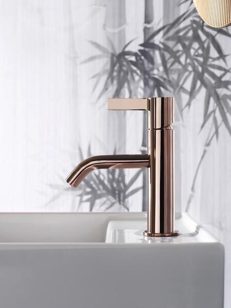 Bathrooms with golden taps