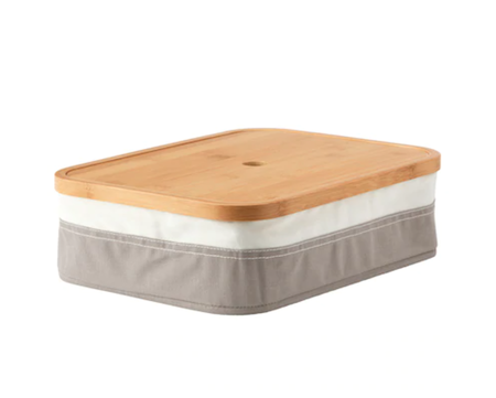 Box with lid and compartments