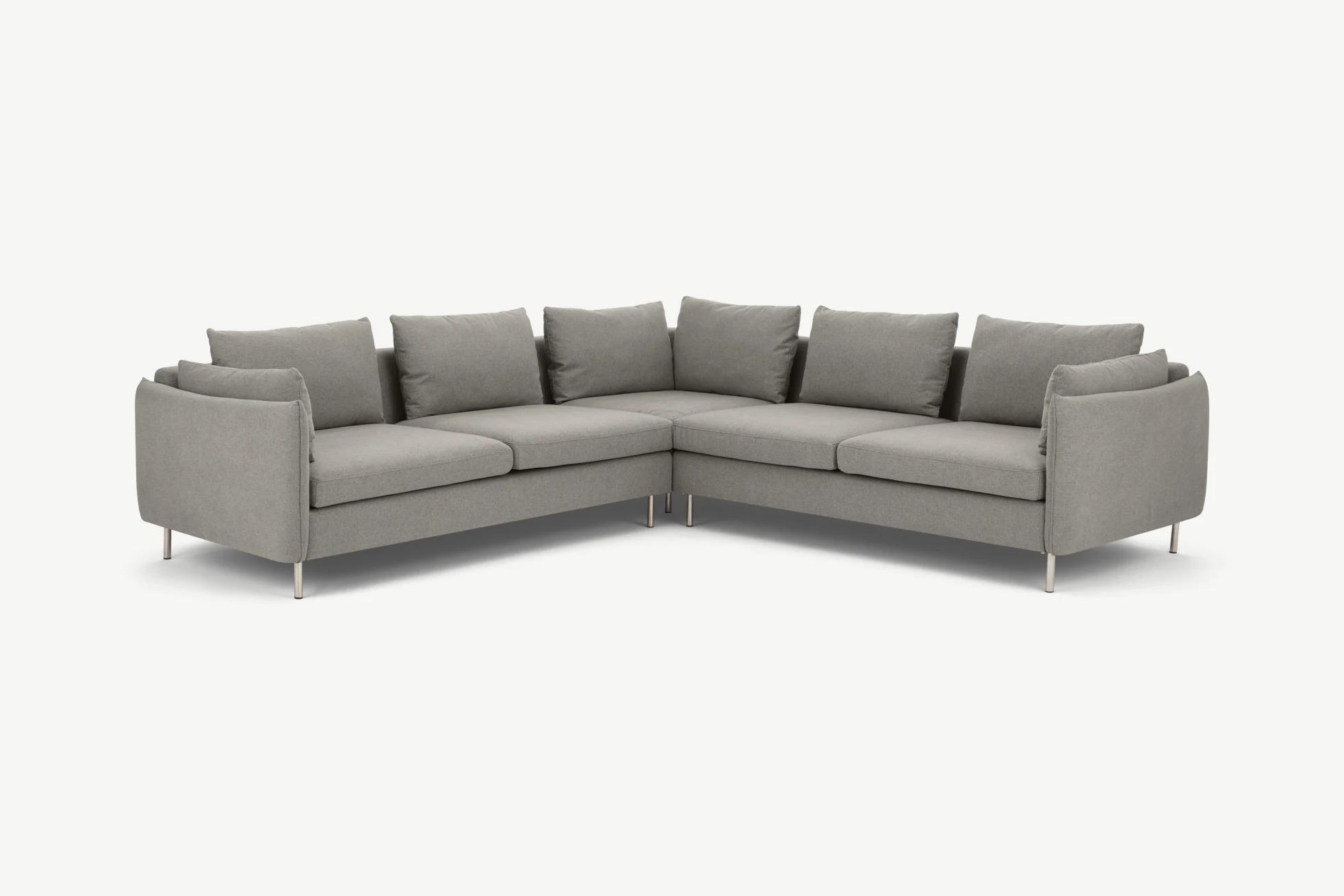Vento 5 Seater Corner Sofa, Manhattan Gray