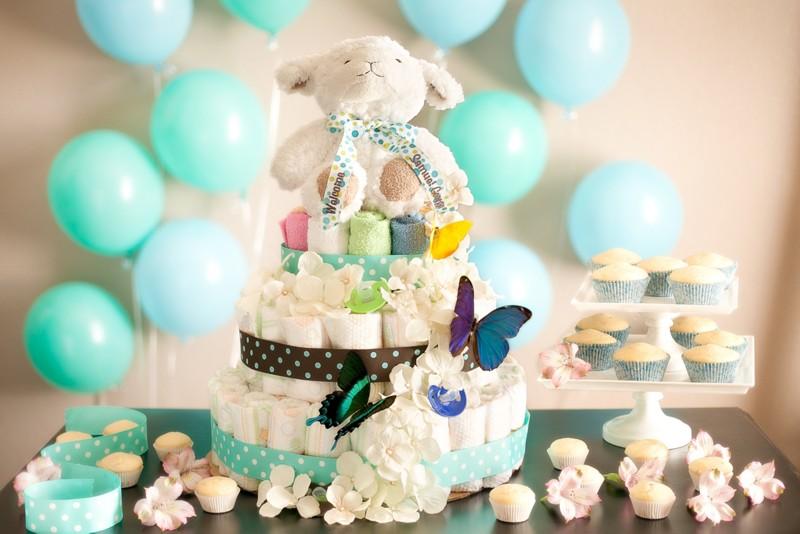 diaper cake step by step