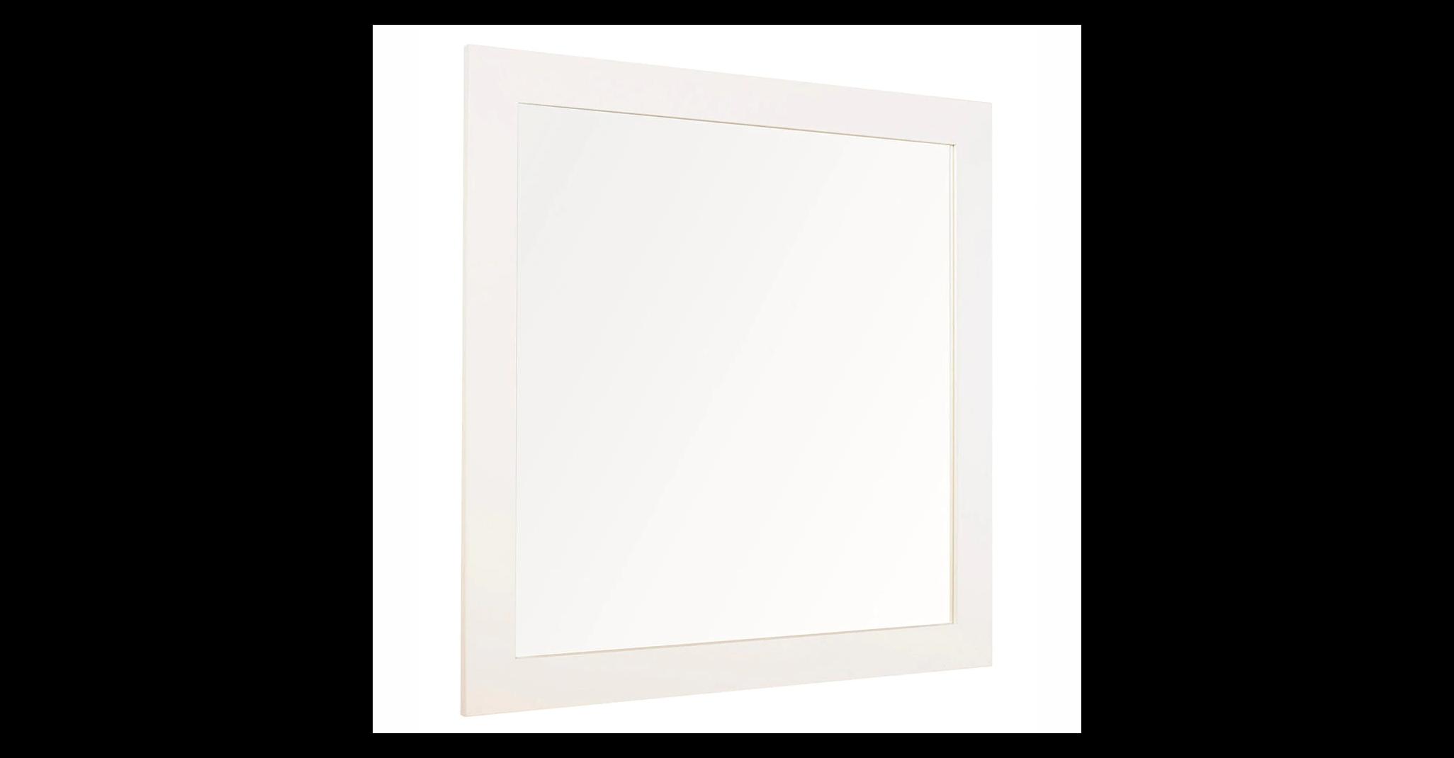 Roma white bathroom mirror 100 x 80 cm