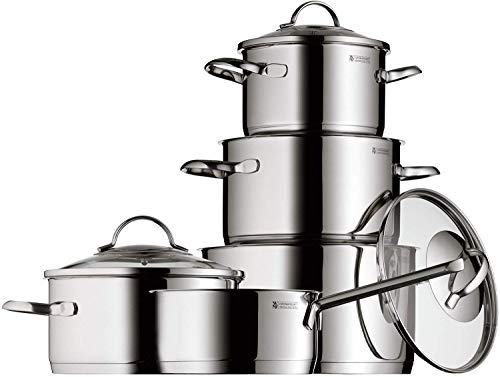 WMF Provence Plus - Cookware, Cromargan Stainless Steel, Glass Lids, Suitable for All Kinds of Kitchens, 5 Pieces