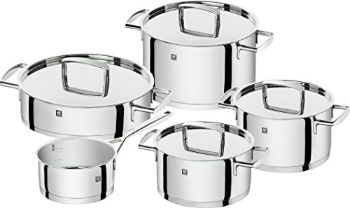 Zwilling Cookware, Stainless Steel, Glossy Gray