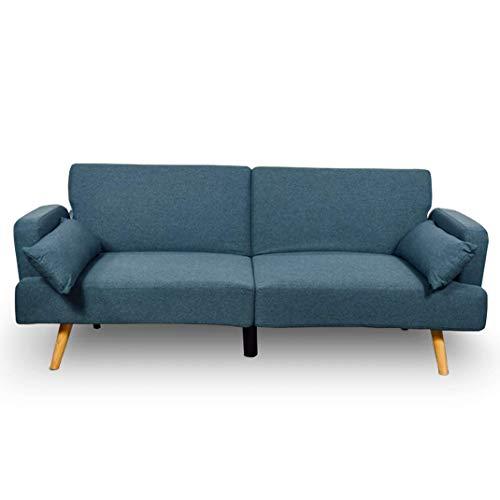 Astan Hogar 3 Seater Sofa Bed, Upholstered Fabric.  Axel Model AH-AR40600DN, Denim Blue,