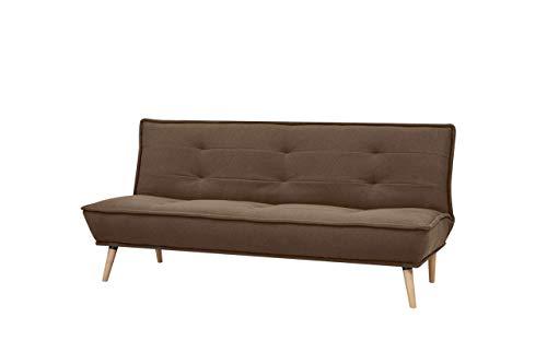 Amazon Brand - Movian Scutari - Three Seater Sofa Bed, 194 x 95 x 89, Brown