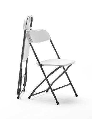 KitGarden - Pack of 2 Multifunctional Folding Chairs, White, Every