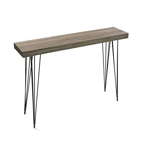 Versa 20361009 Dallas Oak Wood Entry Table, 110x80x25, Console / Chest