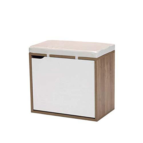 Zapatero Bench Closet Kit, Cherry and White