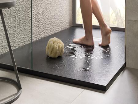 Slate Shower Tray Black