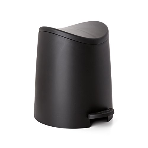 TATAY 4470027 - 3L Small Bath Bucket with Pedal Opening, Black, 19x22.1x0.41 cm