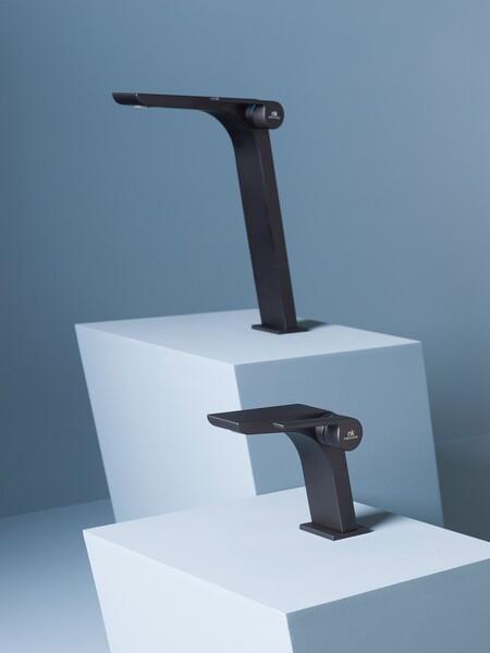 Oxo Faucet In Black And Titanium