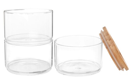 Stackable Glass And Pine Jars X3 1000 15 4 205086 2