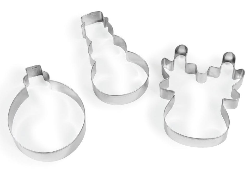 Three metal molds