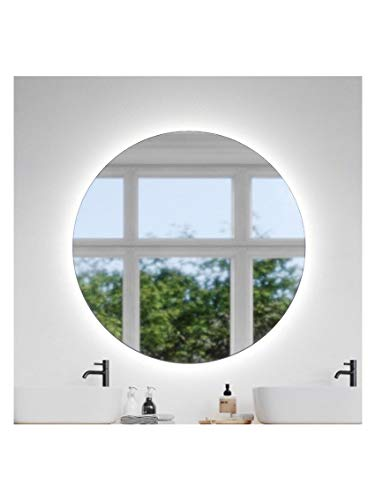 CustomGlass Round Wall Mirror with led lighting in Various Measures with Circular Shape (Round 100 cm)