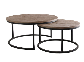 Set of 2 cocktail tables