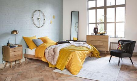 Washed Linen Bedding Set Mustard Yellow 240x260 1000 5 16 192921 5