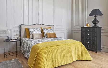 Mustard Yellow Velvet Pique Bedspread 240 260 Cm 1000 4 34 156285 31
