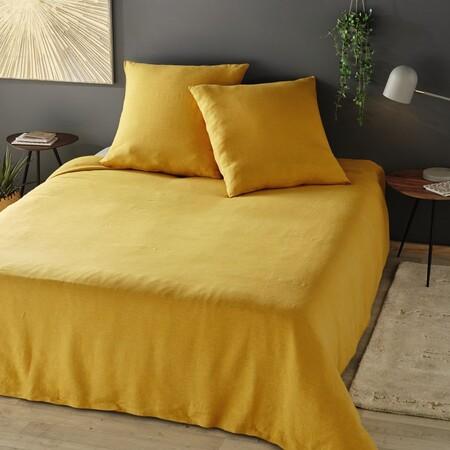 Washed Linen Bedding Set Mustard Yellow 240x260 1000 5 16 192921 3