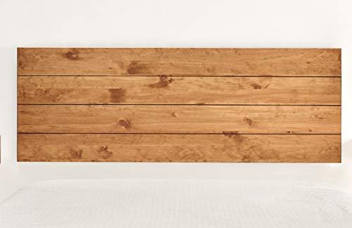 Hogar24-Natural Solid Wood Headboard Waxed Finish.  Measurements: 155 x 60 x 2 cm.
