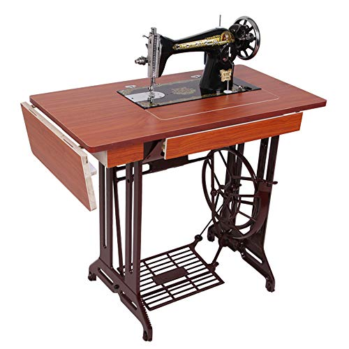 Vintage Home Electric Sewing Machine Eat Thick Sewing Machine Foot Operated Manual Tailor Head with Iron Frame Old Fashioned Sewing Machine - A