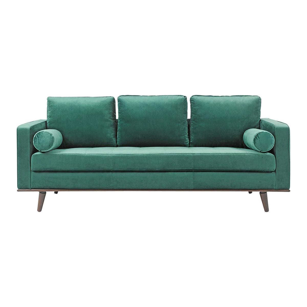 Coimbra 3 seater upholstered velvet sofa