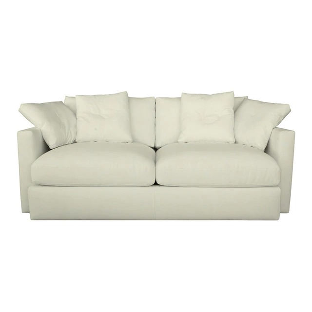 Plus upholstered sofa in cotton and linen 2 seater Quebec