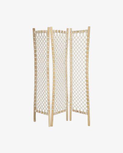 Praxila solid teak and rope screen