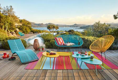Turquoise Blue Round Garden Chair 1000 14 14 129 656 11