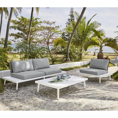 Garden Armchair In Braided Resin Light Gray 1000 9 20 174 803 8