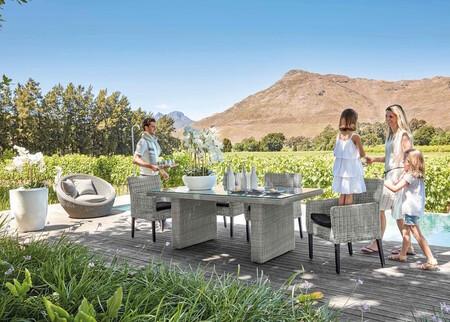 Gray Braided Resin Garden Armchair 1000 14 14 147 081 1