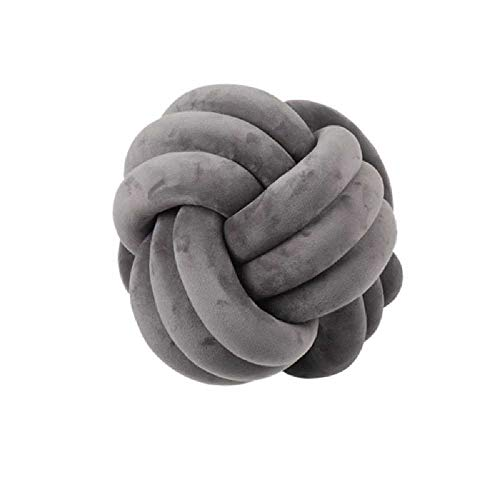 Integrity Knot Pillow Round Pillow for Baby, Family Or Room Decoration, Super Soft Infant Doll Toy 27cm * 27cm / Gray