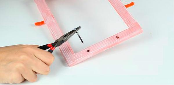 step 1 to make mirrored tray