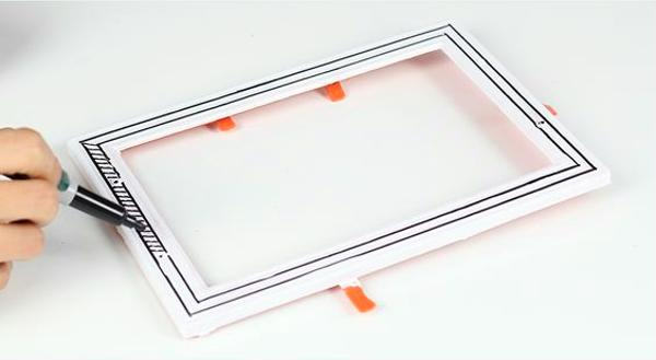 painting mirrored tray