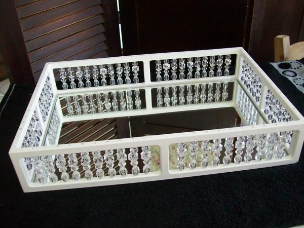 mirrored tray with details
